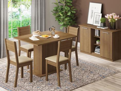 Mesa de Jantar 4 Lugares Retangular - Madesa Jade