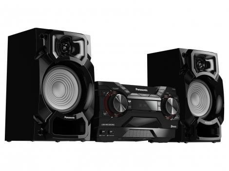 Mini System Panasonic Bluetooth 450W CD Player - AM/FM USB SC-AKX220LBK