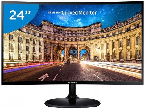 "Monitor para PC Full HD Samsung LED Curvo 24"" - C24F390F"