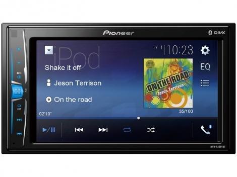 """Multimidia Automotivo Pioneer MVH-A208VBT LCD 6,2"""" - Bluetooth 23 W RMS Entrada para Câmera de Ré USB"""