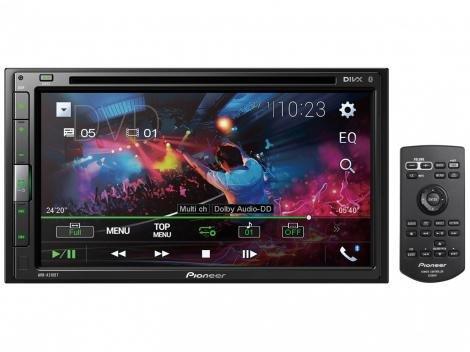 Multimidia Receiver com DVD Player AVH-A318BT - Tela LCD 6,8 Espelhamento via Cabo para Android