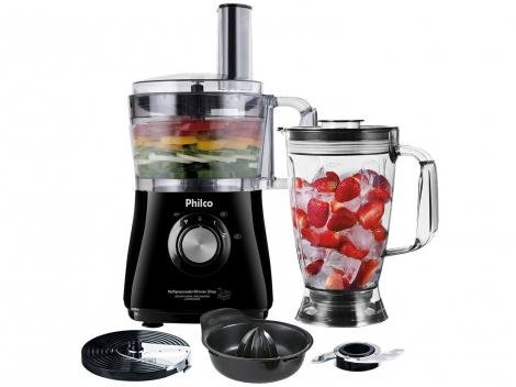 Multiprocessador Philco All in One 2 Citrus - 2 Velocidades + Pulsar 800W