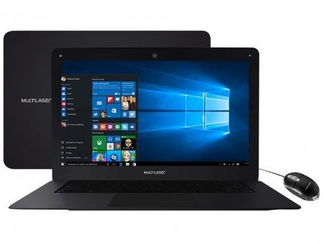 "Notebook Multilaser Legacy Intel Quad Core  - 2GB 32GB 14"" Windows 10"