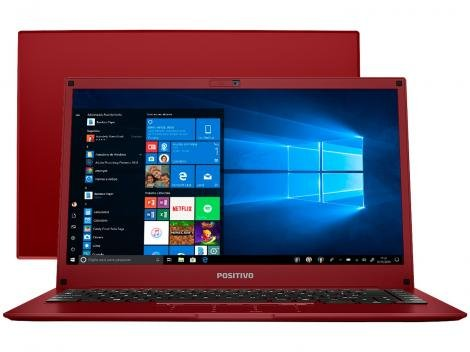 "Notebook Positivo Motion Red Q232B Intel Quad Core - 2GB eMMC 32GB 14"" Windows 10"