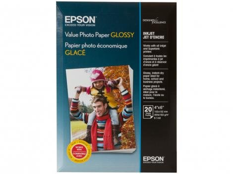 Papel Fotográfico 10x15cm Epson 183g - Value Photo Paper Glossy 20 Folhas