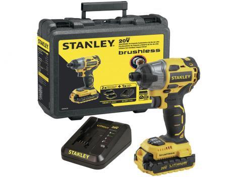 """Parafusadeira Stanley a Bateria 20V 1/4""""  - Velocidade Variável e Reversível com Maleta"""