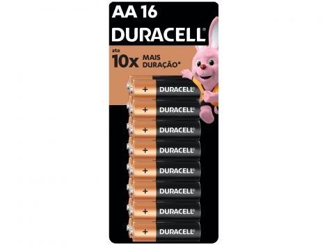Pilha AA Alcalina 16 Unidades - Duracell