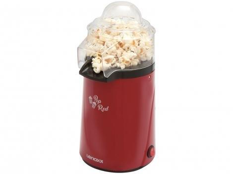 Pipoqueira Elétrica Lenoxx Pop Red - 3 Xícaras de Pipoca Vermelha