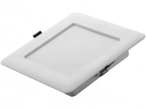 Plafon LED Quadrado Branco 6W 1 Lâmpada - Tramontina 58026200