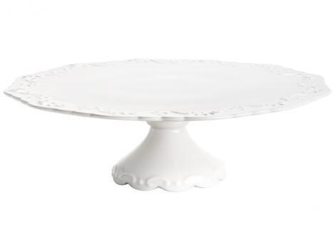 Prato Para Bolo de Cerâmica Bon Gourmet Rendondo  - Alto Relevo