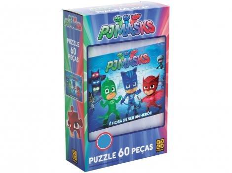 Quebra-cabeça 60 Peças Puzzle PJ Masks - Grow