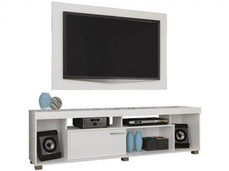 """Rack para TV até 50"""" 1 Porta com Painel - Madetec Tomaz"""