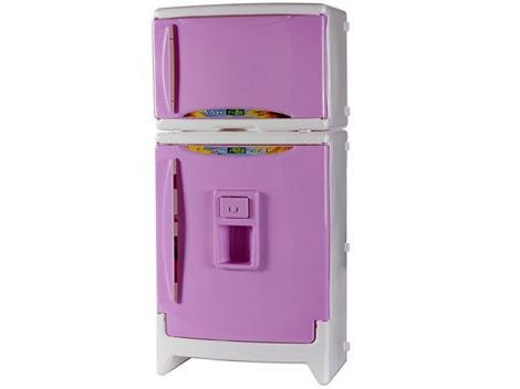 Refrigerador Infantil Duplex Casinha Flor - com Acessórios Xalingo