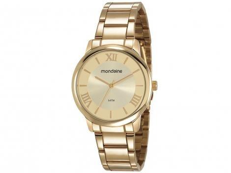 Relógio Feminino Mondaine Analógico - 53803LPMGDE1 Dourada