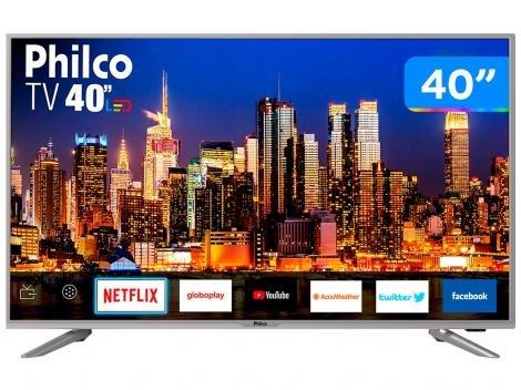 "Smart TV 4K LED 40"" Philco PTV40G50SNS - Wi-Fi Conversor Digital 3 HDMI 2USB"