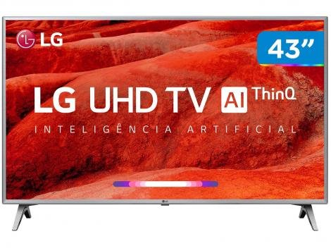 "Smart TV 4K LED 43"" 43UM7510PSB Wi-Fi HDR - Inteligência Artificial Conversor Digital 04 HDMI"