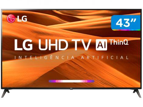 "Smart TV 4K LED 43"" LG 43UM7300PSA Wi-Fi HDR  - Inteligência Artificial Conversor Digital 3 HDMI"