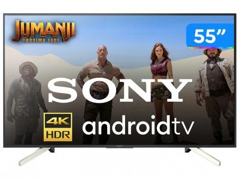 "Smart TV 4K LED 55"" Sony KD-55X755F Android - Wi-Fi HDR 4 HDMI 3 USB"