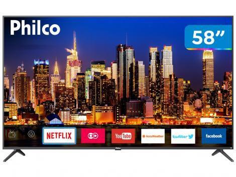 "Smart TV 4K LED 58"" Philco PTV58F60SN Wi-Fi - 3 HDMI 2 USB"