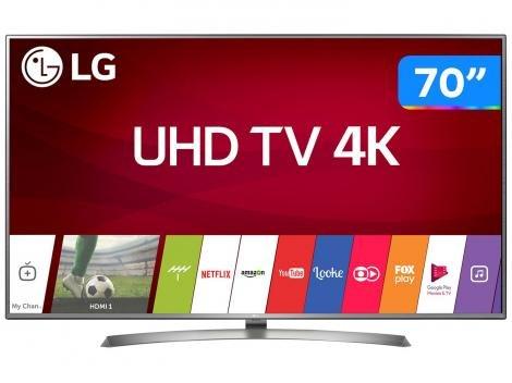 """Smart TV 4K LED 70"""" LG 70UJ6585 Wi-Fi HDR - 4 HDMI 2 USB"""