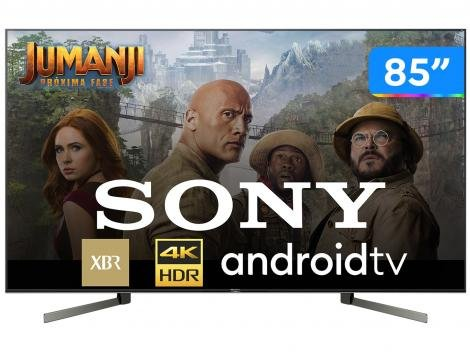 """Smart TV 4K LED 85"""" Sony XBR-85X955G Android Wi-Fi - HDR Inteligência Artificial Conversor Digital"""