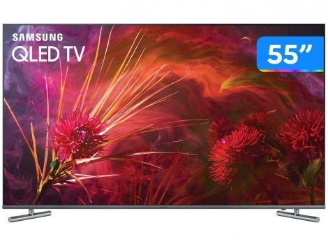 """Smart TV 4K QLED 55"""" Samsung 55Q6FAMGXZD - Wi-Fi 4 HDMI 3 USB"""