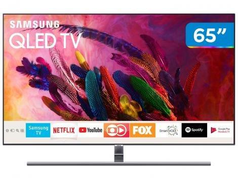 """Smart TV 4K QLED 65"""" Samsung QN65Q7FNAGXZD - Wi-Fi Conversor Digital 4 HDMI 3 USB"""