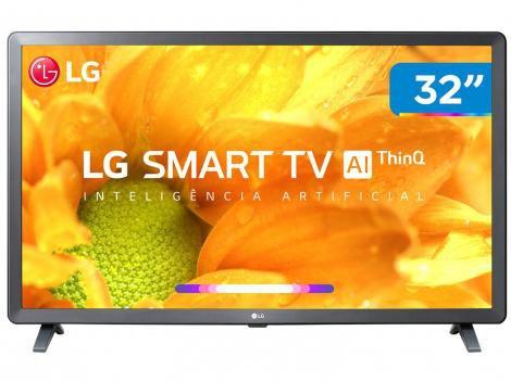 "Smart TV HD LED 32"" LG 32LM625BPSB Wi-Fi Bluetooth - HDR Inteligência Artificial 3 HDMI 2 USB"