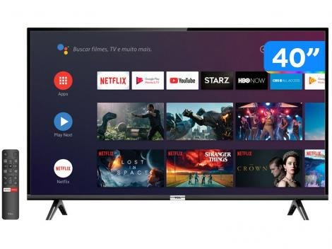 """Smart TV LED 40"""" TCL 40S6500 Full HD Android Wi-Fi - HDR Inteligência Artificial 2 HDMI USB"""