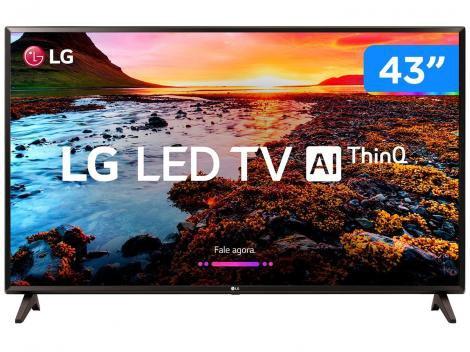 "Smart TV LED 43"" LG 43LK5750 Full HD Wi-Fi HDR  - Inteligência Artificial Conversor Digital 2 HDMI"