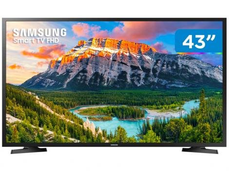 "Smart TV LED 43"" Samsung Series 5 J5290 Full HD - Wi-Fi Conversor Digital 2 HDMI 1 USB"