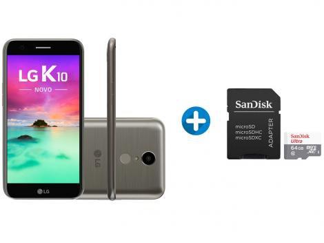 0acf5520b3f Smartphone LG K10 Novo 32GB Titânio Dual Chip 4G Câm. 13MP + Cartão de  Memória 64GB SanDisk - LG K10 - Magazine Luiza