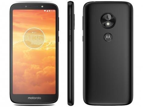 "Smartphone Motorola Moto E5 Play 16GB Preto 4G - Quad Core 1GB RAM Tela 5,34"" Câm. 8MP + Selfie 5MP"