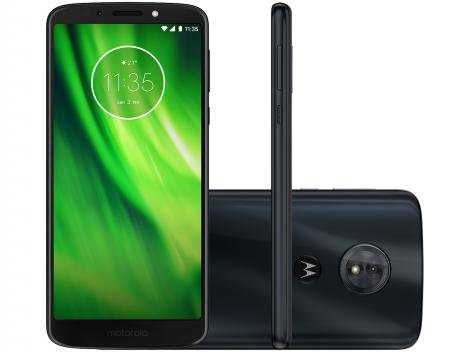 "Smartphone Motorola Moto G6 Play 32GB Indigo - 4G Octa Core 3GB RAM Tela 5,7"" Câm 13MP + Selfie 8"