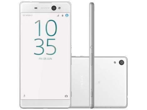 "Smartphone Sony Xperia XA Ultra 16GB Branco - Dual Chip 4G Câm. 21,5MP + Selfie 16MP Tela 6"""