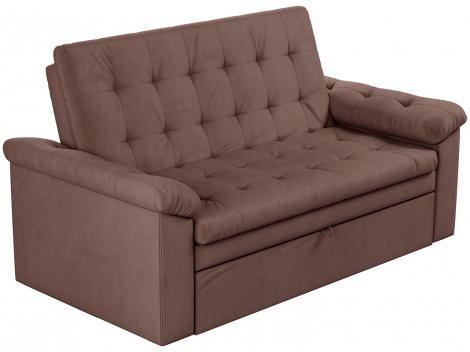 Sofá-cama Casal 3 Lugares Reclinável Veludo  - Matrix Roxane
