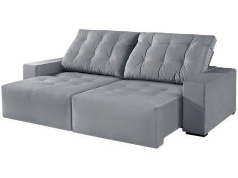 Sofá Retrátil e Reclinável 3 Lugares Suede - Reta Moderna Magnus American Comfort