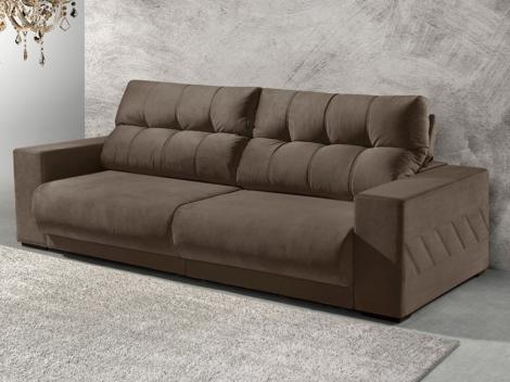 Sofá Retrátil e Reclinável 4 Lugares Suede - Reta Moderna Supreme American Comfort