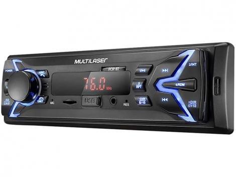 Som Automotivo Multilaser MP3 Player USB - Micro SD Auxiliar Pop