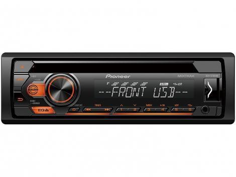 Som Automotivo Pioneer CD e MP3 Player - Rádio AM/FM Entrada USB e Auxiliar DEH-S1180UB