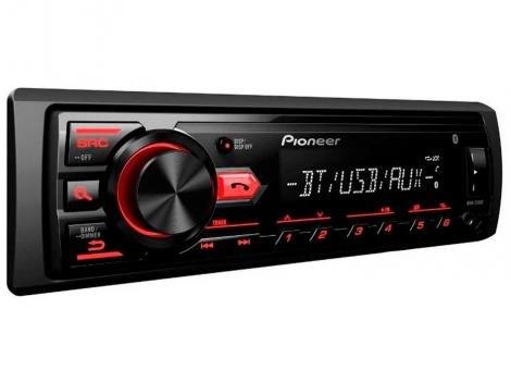 Som Automotivo Pioneer MVH-298BT Bluetooth - MP3 Rádio AM/FM USB Auxiliar