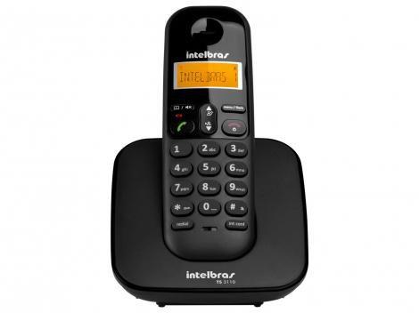 Telefone Sem Fio Intelbras TS 3110 de Mesa - Preto
