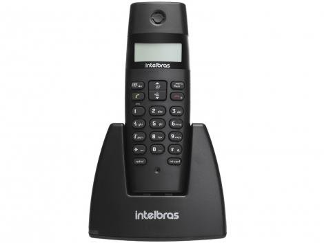 Telefone Sem Fio Intelbras TS 40 ID - Identificador de Chamada Preto