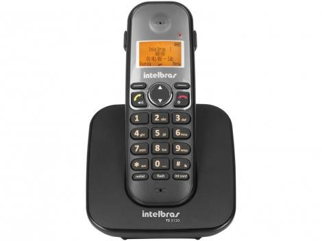 Telefone Sem Fio Intelbras TS 5120 - Identificador de Chamada Viva Voz Conferência