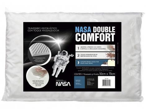 Travesseiro Espuma Viscoelástica  - Fibrasca NASA Double Comfort