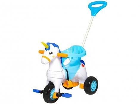 Triciclo Infantil Calesita com Empurrador Fantasy - Buzina