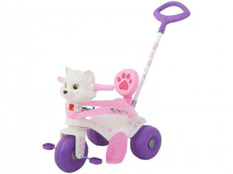 Triciclo Infantil Tonkinha Gatinha com Empurrador - Bandeirante