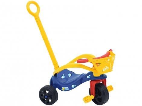 Triciclo Infantil Xalingo com Empurrador - Pet Peixinho