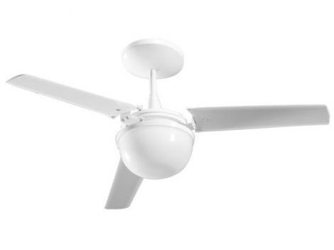 Ventilador de Teto Aliseu Alisclean 3 Pás  - 3 Velocidades Branco