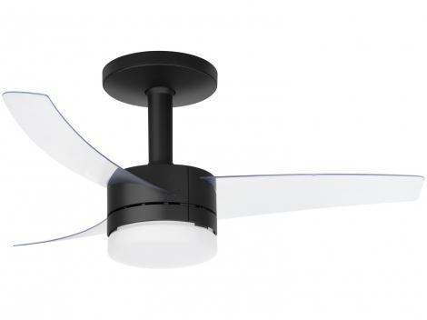 Ventilador de Teto com Controle Remoto Arno - Ultimate 3 Pás 6 Velocidades Preto e Transparente
